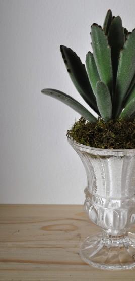 Vintage footed vase