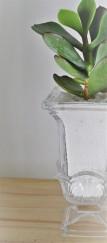 Floral hurricane vase