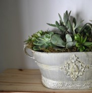 Rustic silver container - Large
